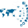 Social Media around the World Powerpoint Backgrounds