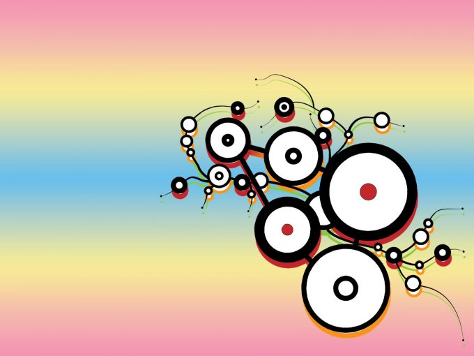 Colorful Circle Pattern PPT Backgrounds