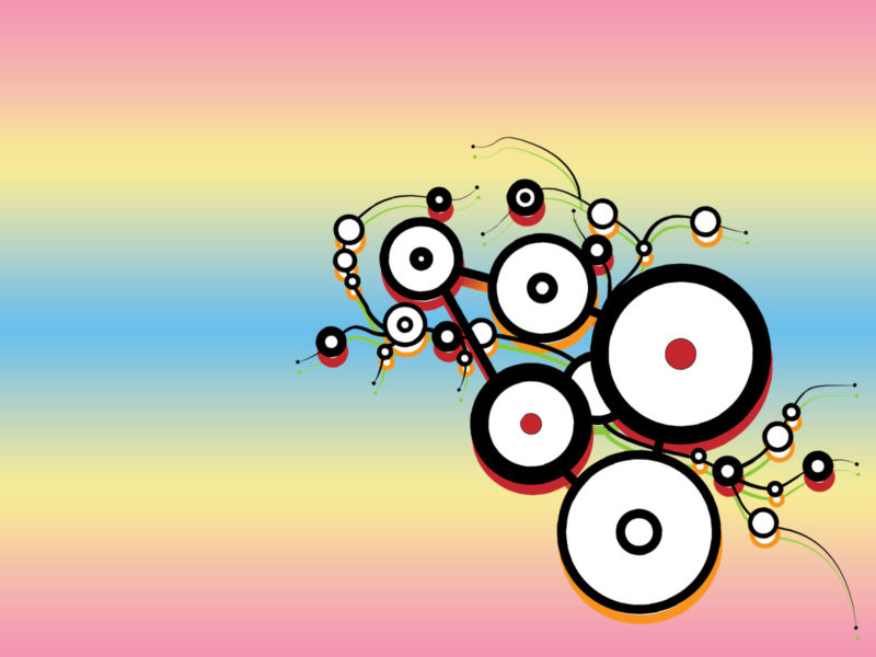 Colorful Circle Pattern Powerpoint Background