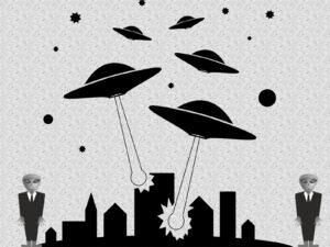 Alien Invasion Powerpoint Background