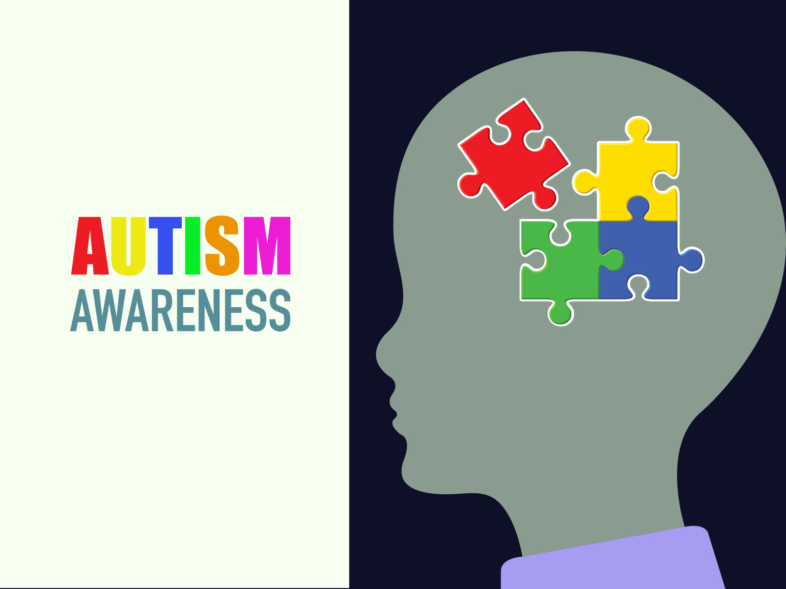 autism awareness backgrounds educational health templates free