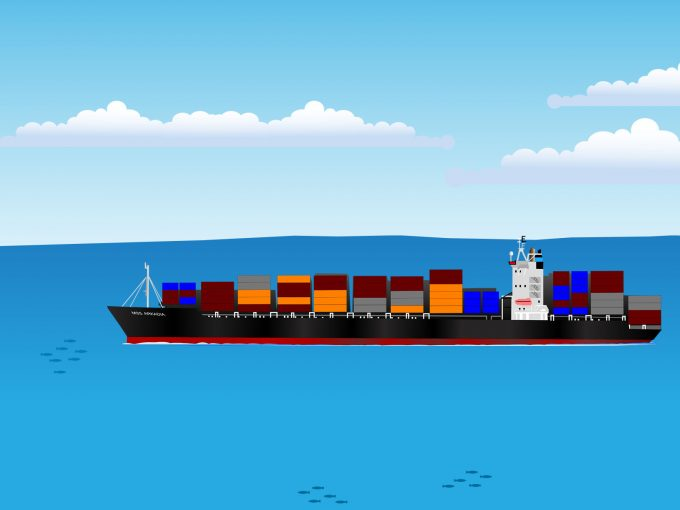 Container Transportation PPT Backgrounds
