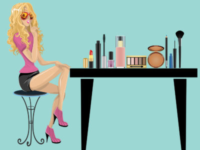 Cosmetic Materials Powerpoint Background