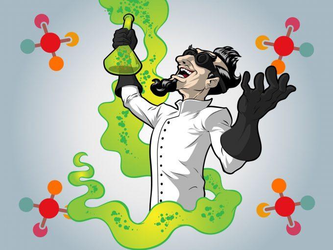 Crazy Scientist PPT Backgrounds