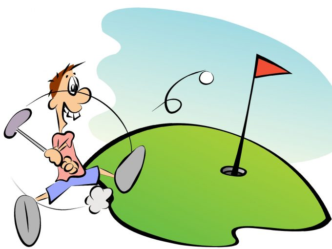 Golf Player PPT Backgrounds