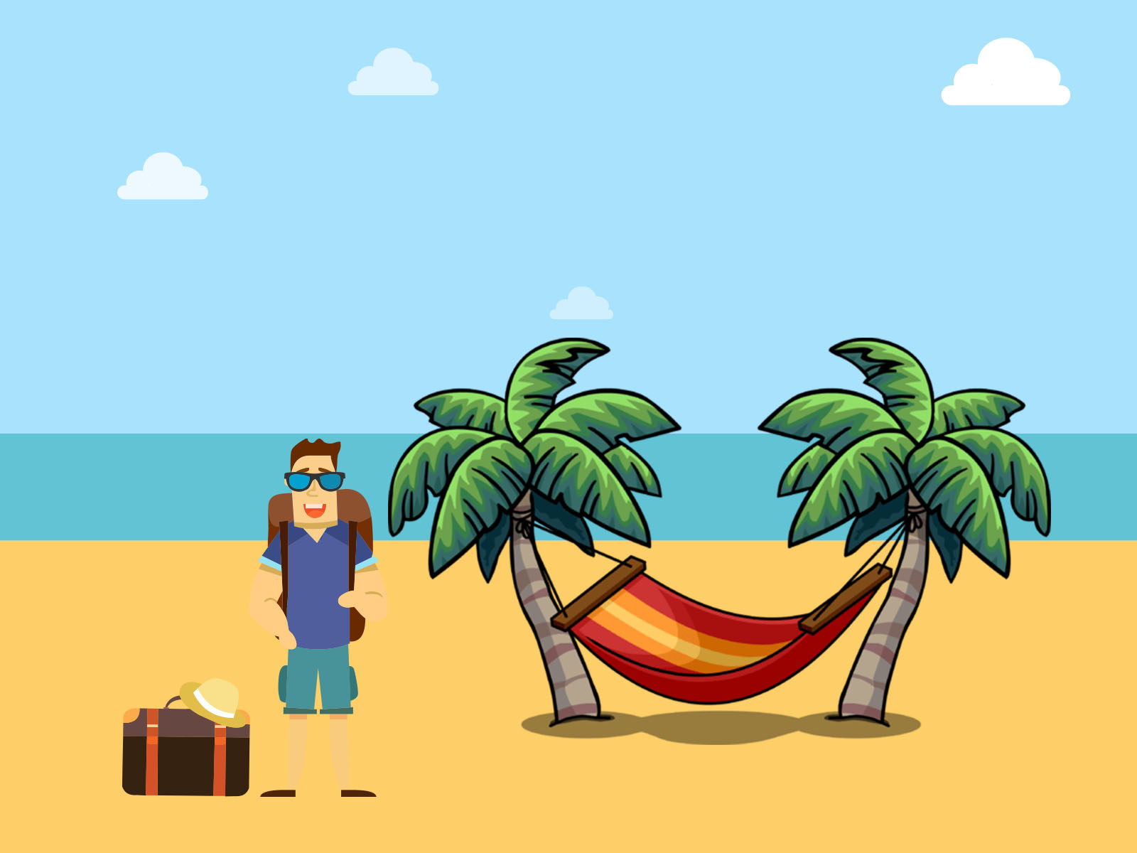 Hammock and holiday backgrounds holiday templates free ppt hammock and holiday powerpoint themes toneelgroepblik Images