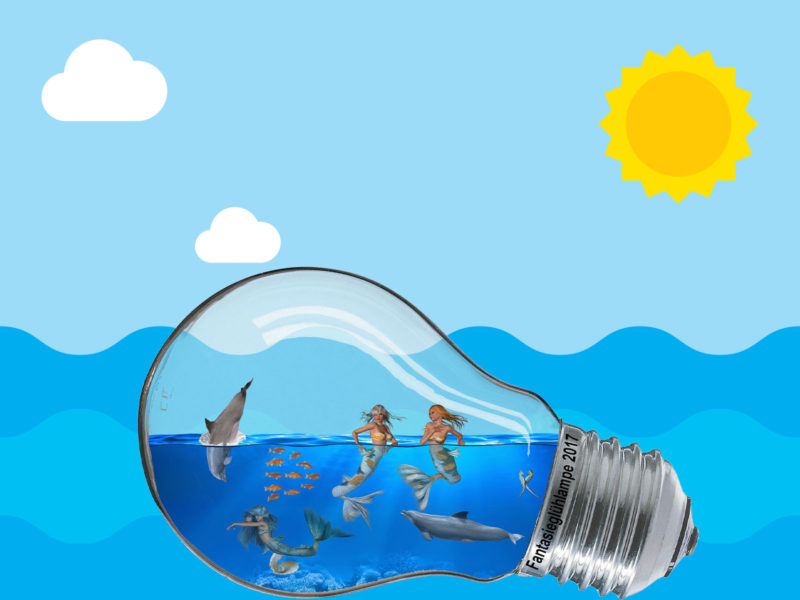 Life inside of the Lamp Powerpoint Backgrounds