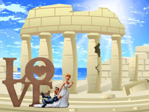Love in the Ancient Times PPT Backgrounds
