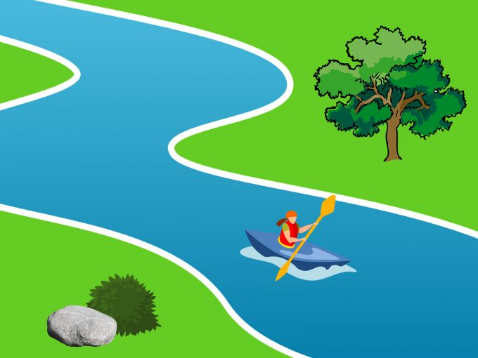 Rafting in the River PPT Backgrounds