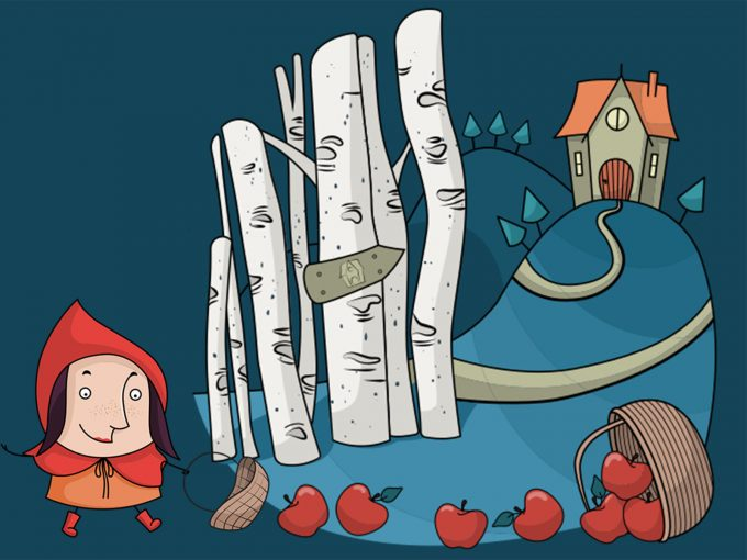 Red Riding Hood PPT Backgrounds