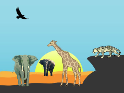Safari Animals Powerpoint Background