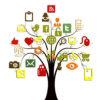 Social Media Tree Powerpoint Background