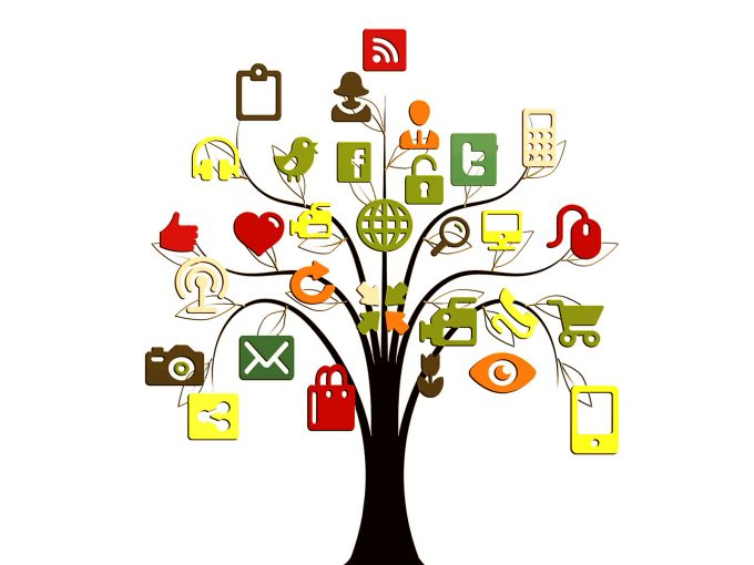 Social Media Tree PPT Backgrounds