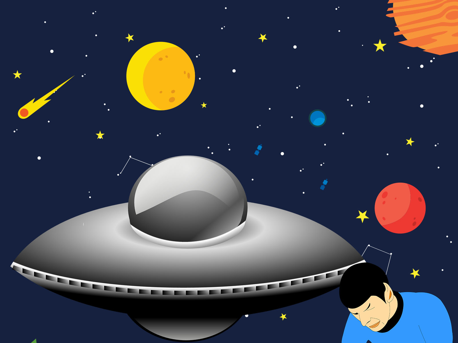Space Craft Powerpoint Backgrounds