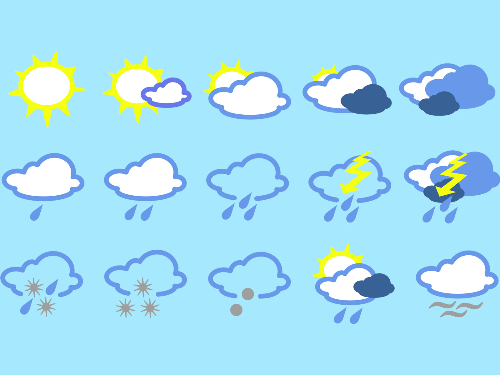 Weather Icons Powerpoint Backgrounds