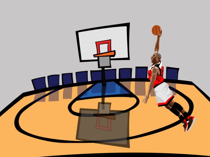 Basketball Game PPT Backgrounds