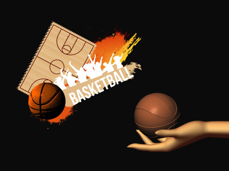 Basketball Player PPT Background