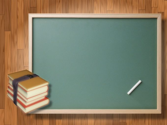 Books and Black Board PPT Backgrounds
