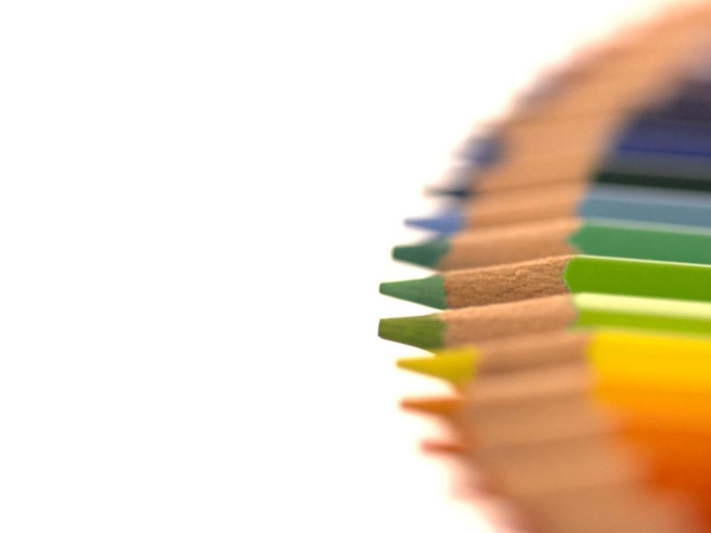 Coloured Pencils Powerpoint Templates