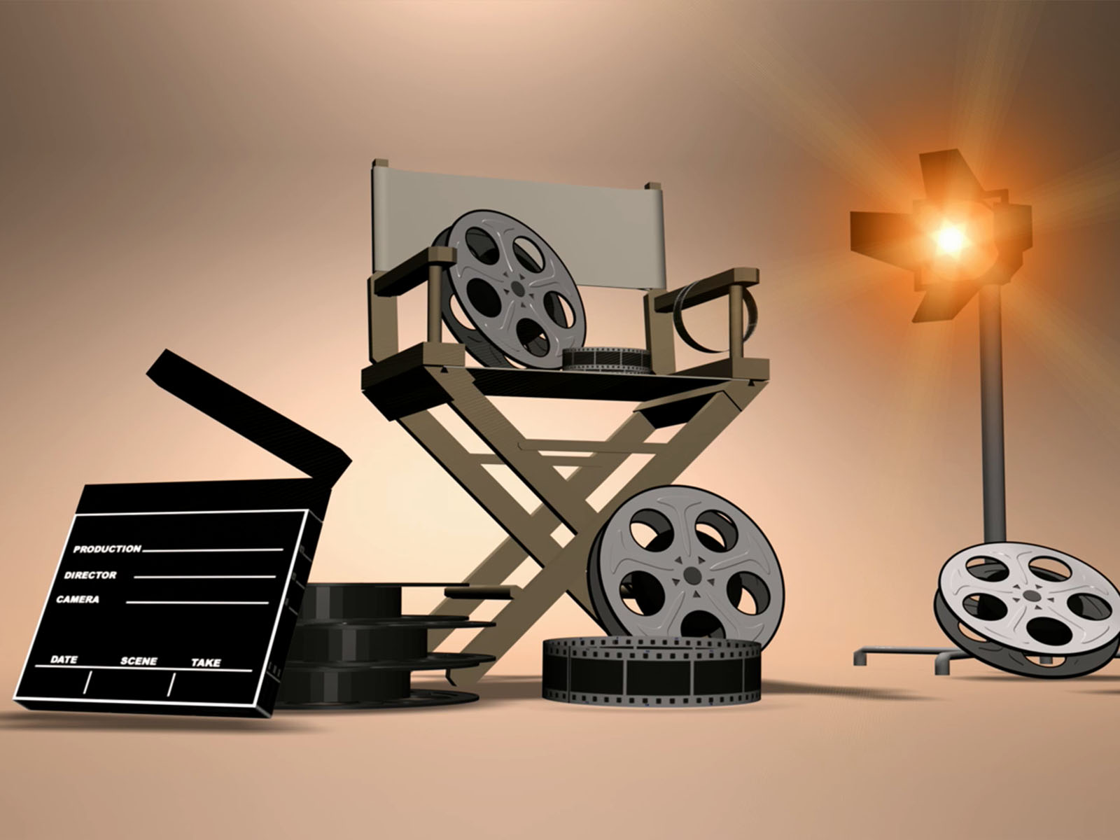 Film Set Equipment Powerpoint Background