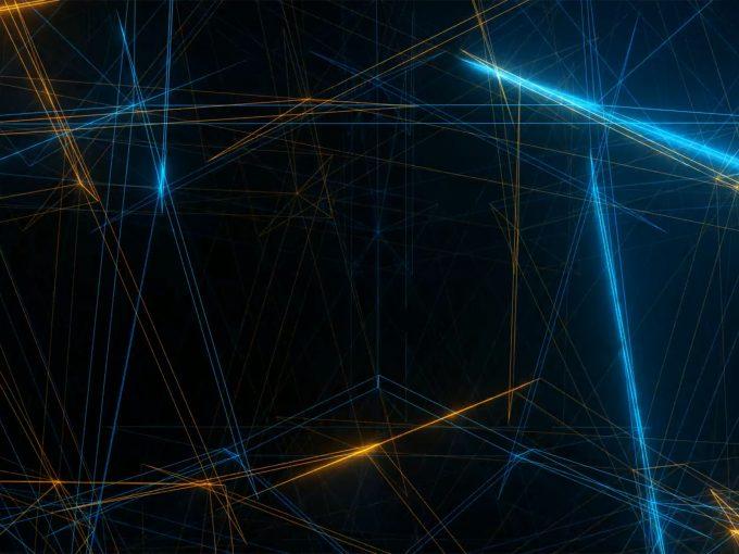 Fractal Light Rays PPT Backgrounds