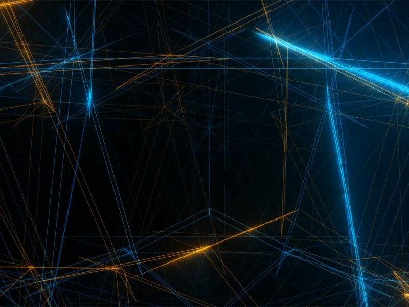 Fractal Light Rays PPT Background