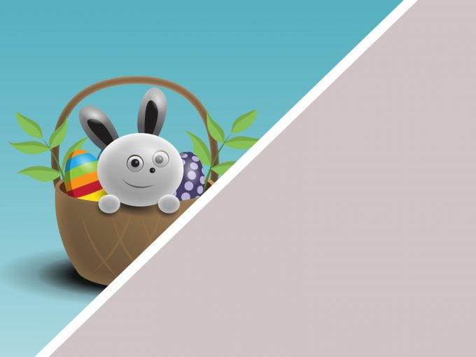 Happy Easter Cartoon PPT Backgrounds