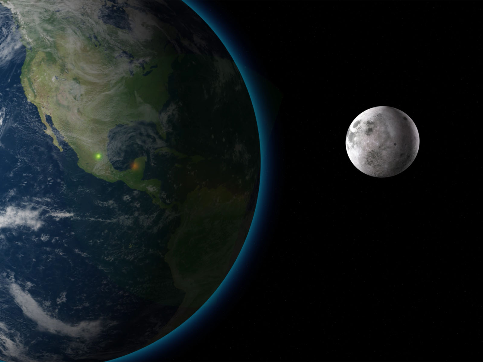 Moon and Earth PPT Backgrounds