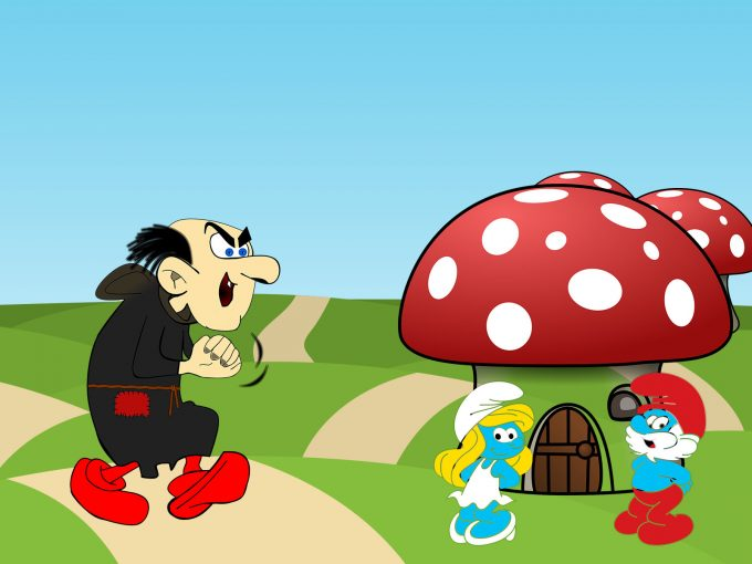 Smurfs Cartoon PPT Backgrounds