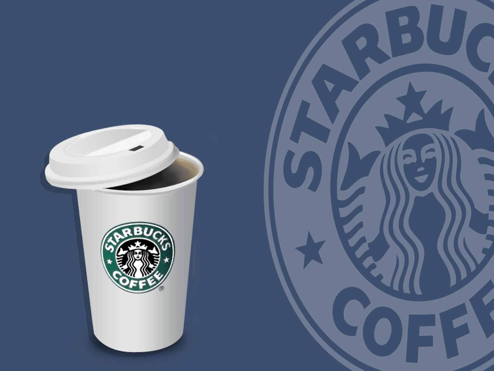 starbucks coffee ppt backgrounds - foods & drinks templates - ppt, Modern powerpoint