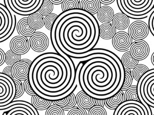 Swirls Symbols Powerpoint Themes