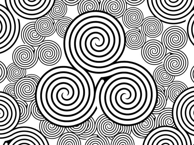 Swirls Symbols PPT Backgrounds