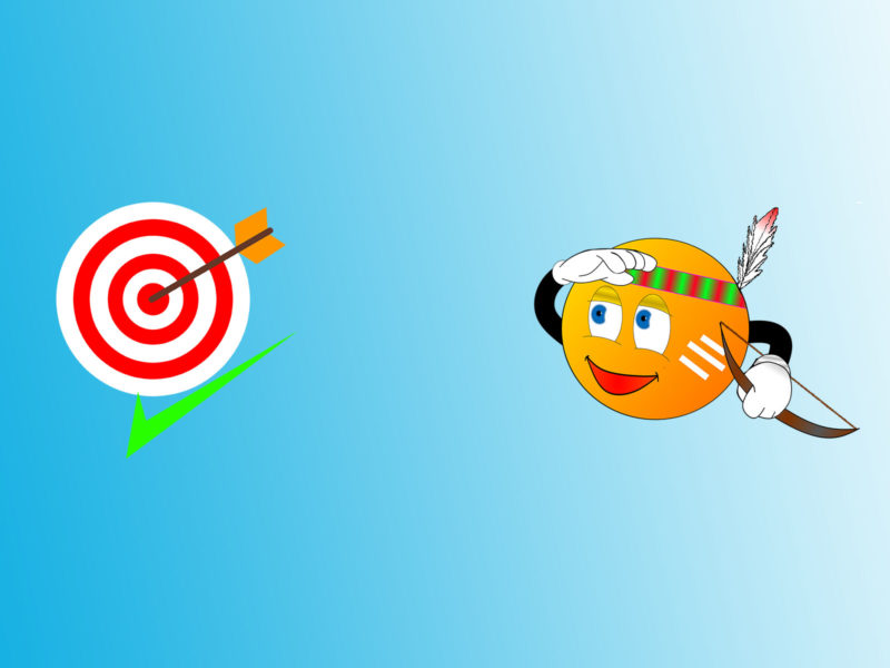 Target and Arrow PPT Background