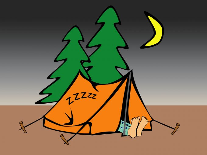 Tent Camping PPT Backgrounds