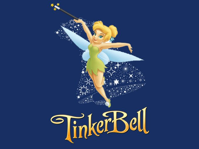TinkerBell Cartoon Character PPT Backgrounds