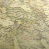 Vintage Map Across To Turkey Background