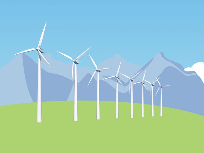 Wind Energy Turbines PPT Backgrounds
