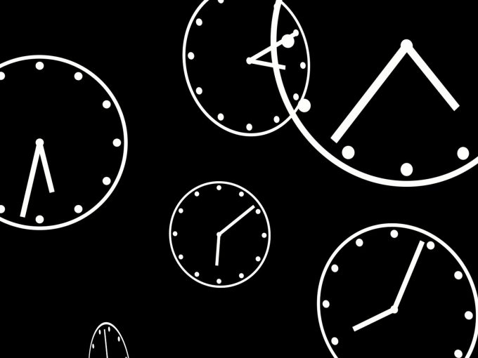 Clocks Loop PPT Backgrounds