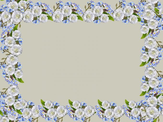 Flowers Rectangular Frame PPT Backgrounds