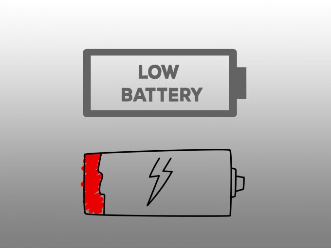 Low Battery PPT Backgrounds