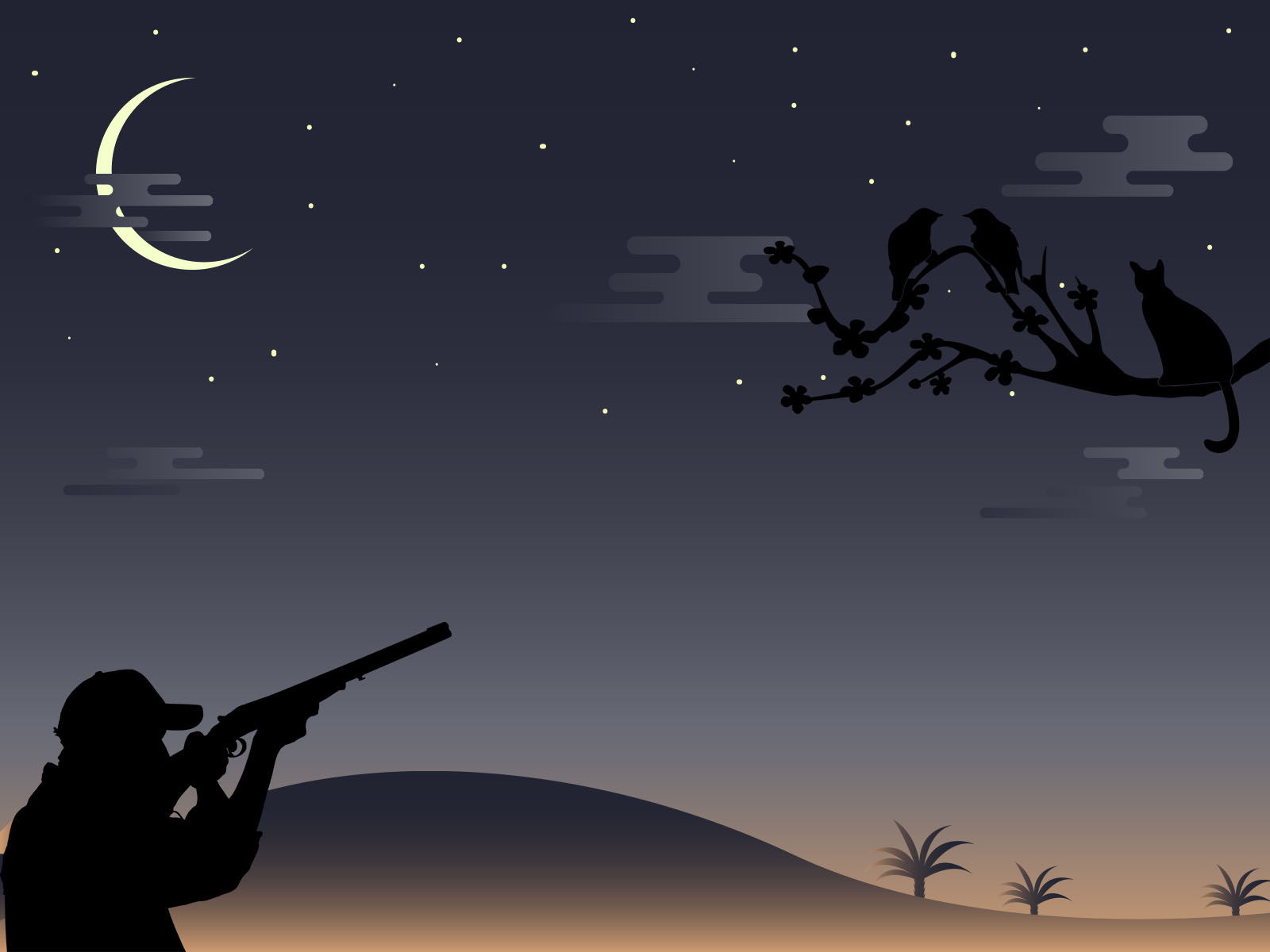 Night Hunter PPT Backgrounds