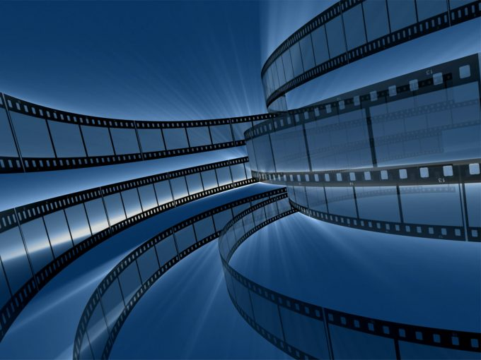 Rotating Film Reels PPT Backgrounds