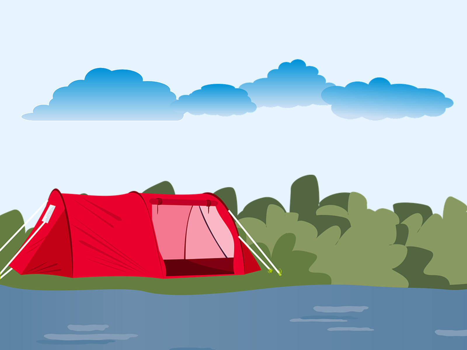 Tent Near Liver PPT Backgrounds