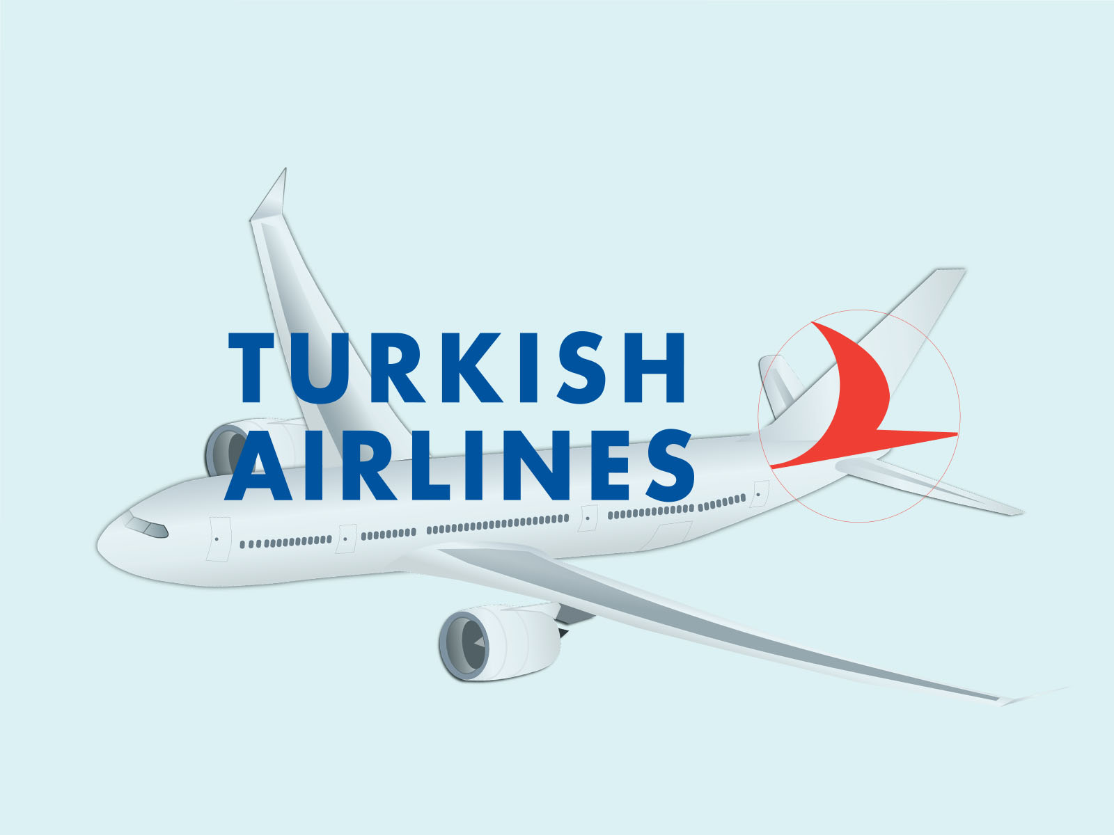 Turkish Airlines Backgrounds Transportation Templates Free Ppt