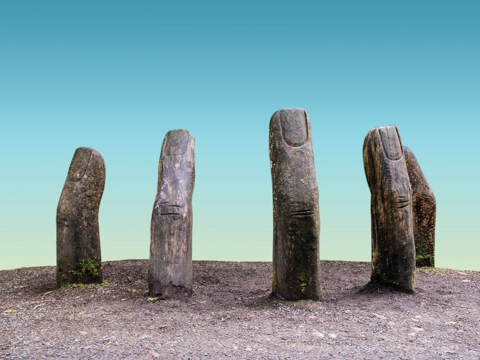 Ancient Finger Ruins PPT Backgrounds