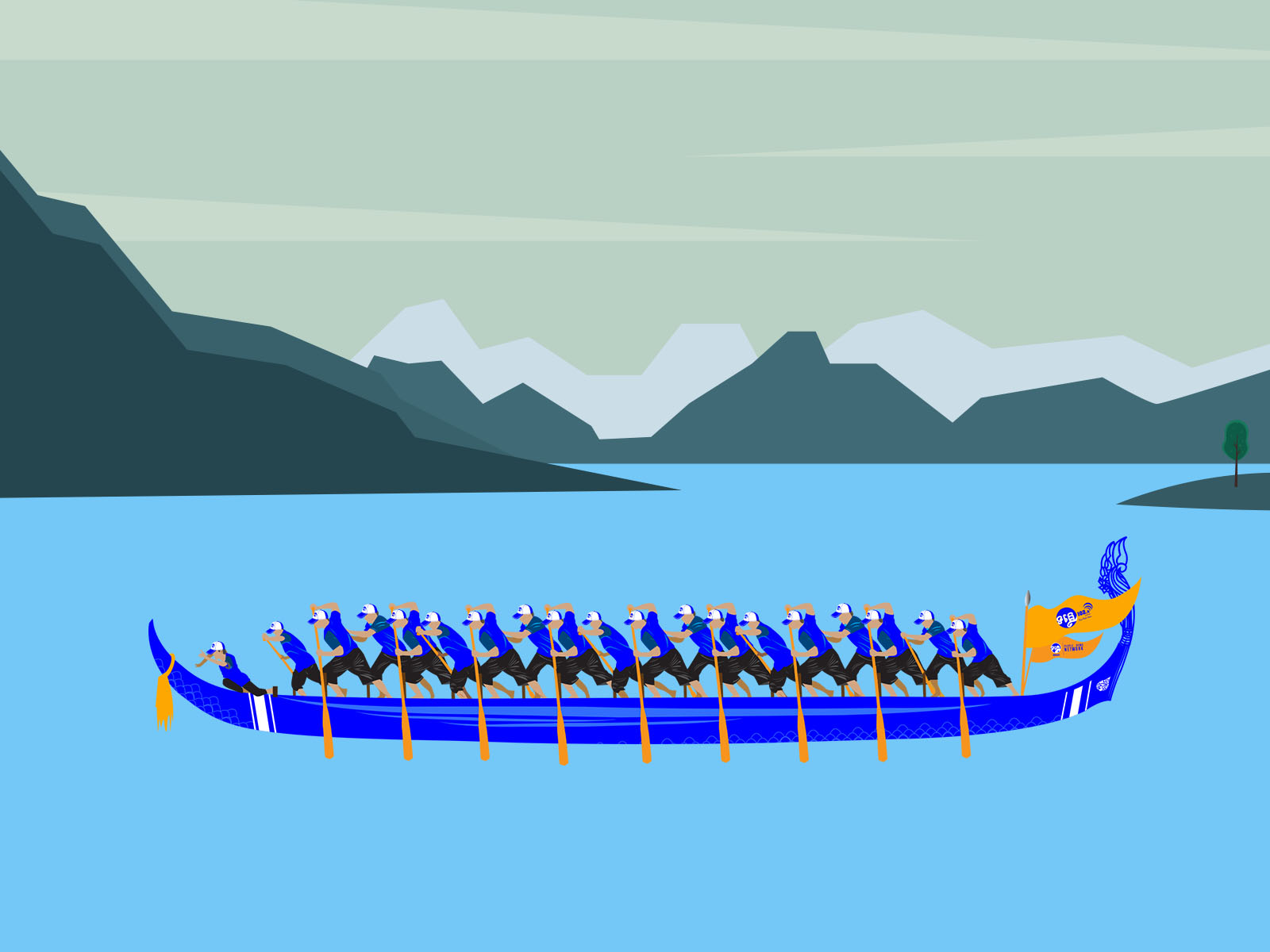 Boating Team Powerpoint Templates