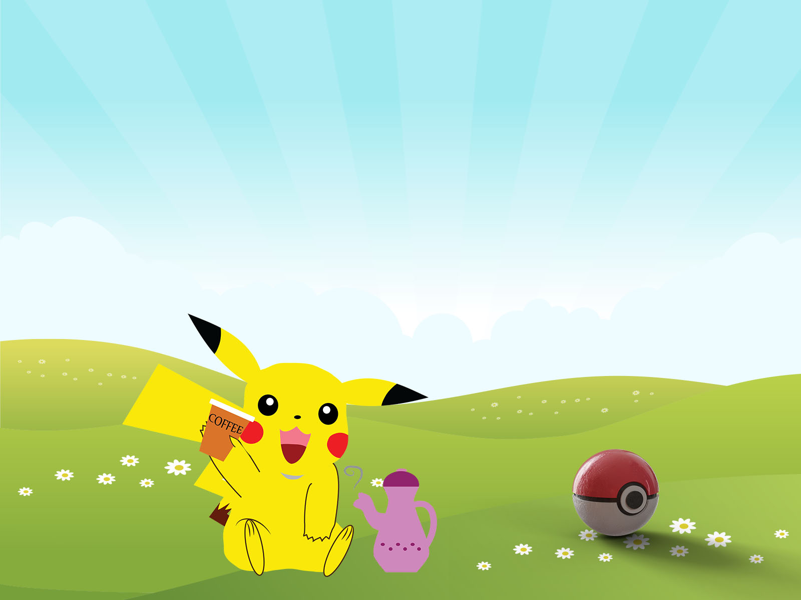 Pokemon Pikachu Backgrounds Cartoon Yellow Templates Free Ppt