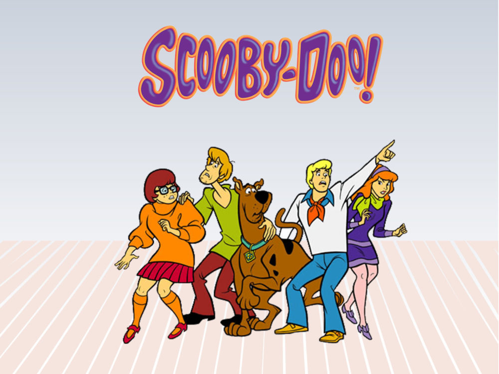 Scooby doo characters ppt backgrounds cartoon grey pink normal resolution voltagebd Images