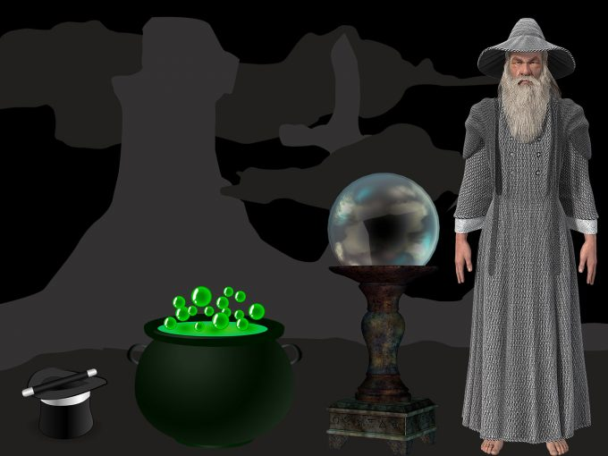 Wizard Magic Black PPT Backgrounds