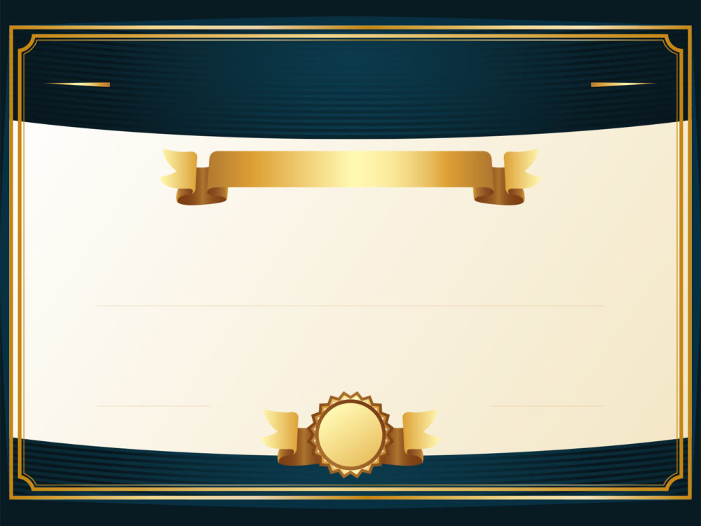 Golden Certificate Backgrounds